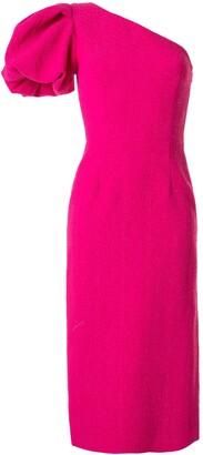 Rebecca Vallance Natalia one-sleeve midi dress