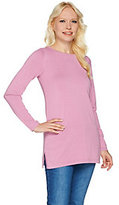 Joan Rivers Classics Collection As Is Joan Rivers Wardrobe Builders Round Neck Tunic Sweater