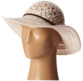 San Diego Hat Company KNH8004 Knit Crochet Sunbrim w/ Suede Braided Trim
