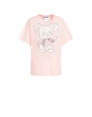 Moschino Don't Call Me Cute Jersey T-shirt Man Pink Size L It
