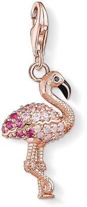Thomas Sabo Women-Charm-Pendant Flamingo Charm Club 925 Sterling silver 1518-384-10