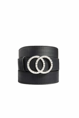 Yours Clothing Womens Diamante Double Circle Belt Size 28-32 Diamante