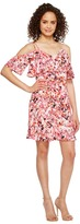 Jessica Simpson Printed Cold Shoulder Dress JS7A9571 Women's Dress