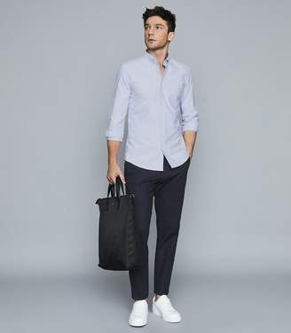 Reiss Greenwich - Slim Fit Button Down Oxford Shirt in Soft Blue
