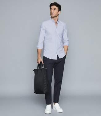 Reiss Greenwich - Soft Wash Button Down Oxford Shirt in Soft Blue