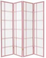 Oriental Furniture 6-Feet Double Cross Japanese Shoji Folding Privacy Screen Room Divider