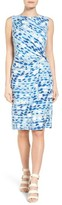 Nic+Zoe Women's Water Lane Bias Twist Sheath Dress