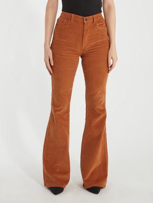 "DL1961 Rachel 35"" High Rise Corduroy Flare Jeans"