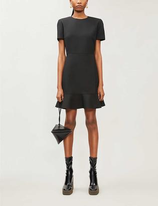 Stella McCartney Padded-shoulder wool-blend mini dress