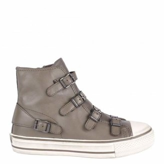Ash Perkish Virgin Nappa Wax Trainers - 37 - Grey/White