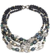 Alexis Bittar Multi Strand Medallion Necklace