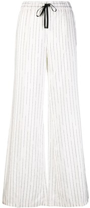 Unravel Project Logo Stripe Palazzo Trousers