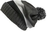 Zella Women's Reflective Slouchy Pompom Beanie - Black