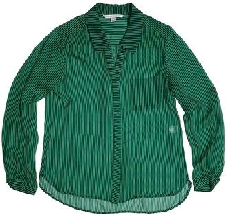 Diane von Furstenberg Green Silk Tops