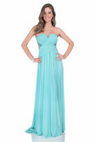 Terani Couture 1612P0589A Pleated Sweetheart A-line Dress
