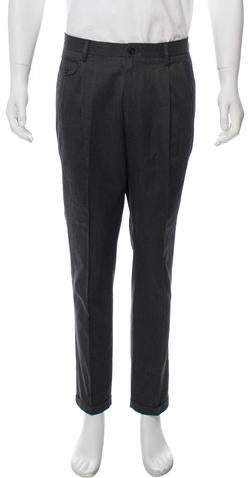 Dolce & Gabbana Cropped Checkered Pants