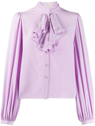 Temperley London Ruffle Trim Puff Sleeves Blouse