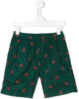 Gucci Kids - GG bee print swim shorts - kids - Polyamide/Spandex/Elastane/Polyamide-8 - 10 yrs