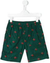 Gucci Kids GG bee print swim shorts