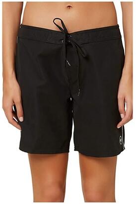 O'Neill 7 Saltwater Solids Boardshorts (Black) Women's Swimwear