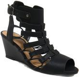 City Classified Black Awhile Wedge Sandal