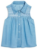 Bloomie's Girls' Embroidered Chambray Blouse, Little Kid - 100% Exclusive