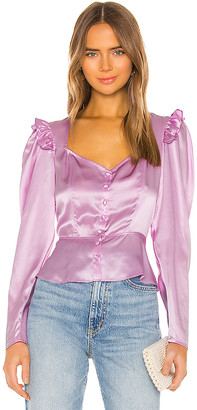 Divine Heritage Sweetheart Neckline Blouse
