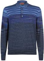 Missoni Knitted Long Sleeve Polo Top