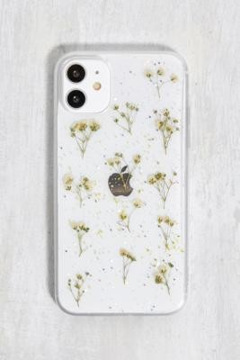 Urban Outfitters White Glitter Flower iPhone 11 Phone Case - White ALL at