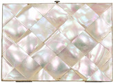 One Kings Lane Vintage Antique Pearl Business Card Case - THE QUEENS LANDING - pearl/blue