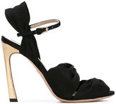 Giambattista Valli ankle strap sandals - women - Leather/Satin Ribbon - 36.5