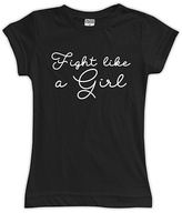 Urban Smalls Black 'Fight Like A Girl' Fitted Tee - Toddler & Girls