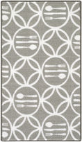 Asstd National Brand Cutlery Modern Indoor Rectangular Rug
