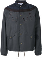 Kolor embroidered shirt jacket - men - Polyester - 3