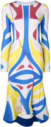 Esteban Cortazar Surf colour-block dress