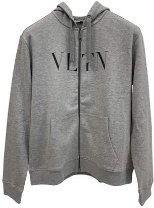 Valentino Grey Cotton Knitwear & Sweatshirts