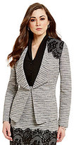 Antonio Melani Patti Shawl Collar Lined Tweed & Lace Jacket
