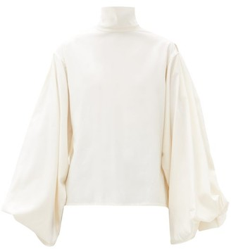 Victoria Beckham Balloon-sleeve Silk Blouse - Ivory