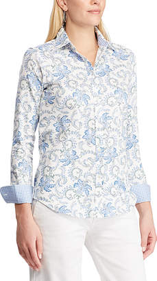 Chaps Women's Button Down Shirts PEARL - Pearl Abstract Button-Up - Women