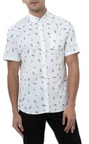 7 Diamonds Men's Sweet Tides Hula Girl Woven Shirt