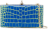 Vivienne Westwood crocodile effect structured clutch - women - Calf Leather - One Size