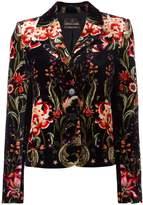Roberto Cavalli velvet floral blazer