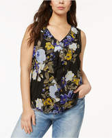 INC International Concepts Plus Size Ruffled Top, Created for Macy's