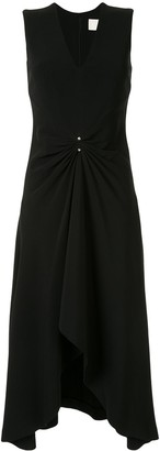 Dion Lee pierced drap sleeveless dress