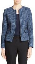 Helene Berman Zip Front Tweed Jacket