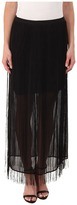DKNYC Fringed Maxi Skirt