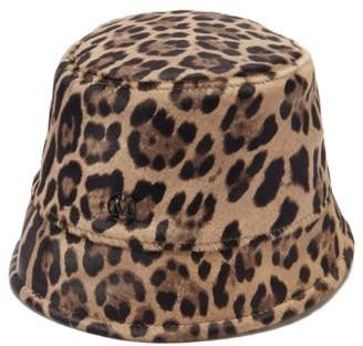 Maison Michel Souna Leopard-print Calf-hair Bucket Hat - Leopard
