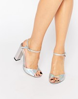 Faith Lenny Iridescent Block Heeled Sandals