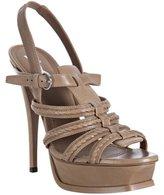 almond leather 'Hamptons' platform sandals