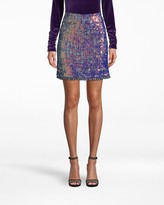 Nicole Miller Sequin Tweed Mini Skirt